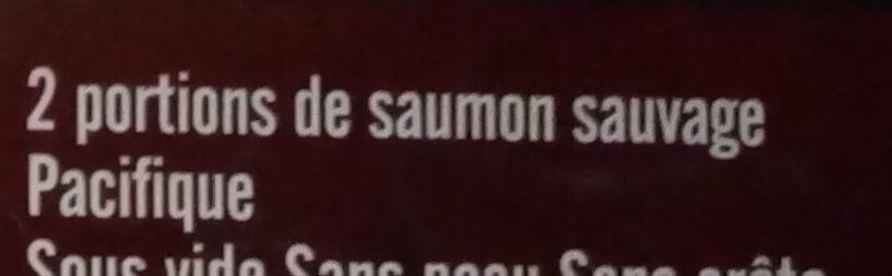 2 portions de saumon rose sauvage - Ingrediënten - fr