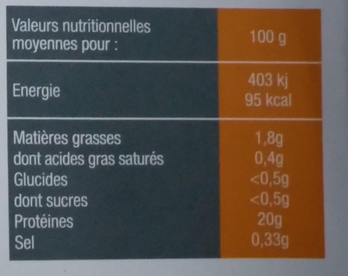 2 portions de saumon rose sauvage - Voedingswaarden - fr