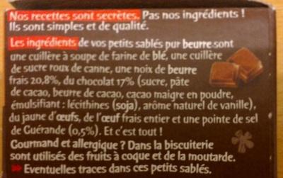 Petits sablés ronds et bons aux gouttes de chocolat - Ingredients