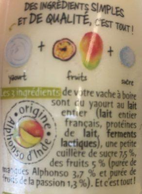Vache à boire - mangue passion - Ingredienti - fr