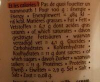 La vache en pot à la Vanille de Madagascar 1kg - Nutrition facts - fr