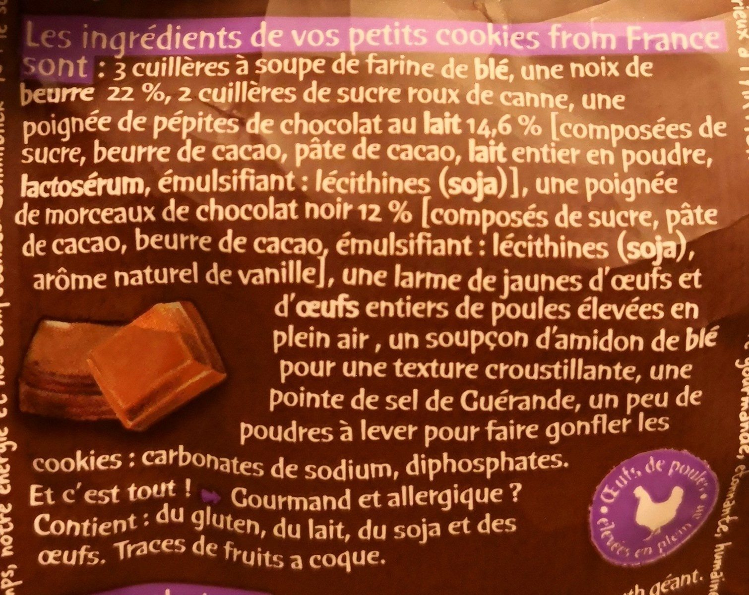 Petits cookies from France - Ingredients - fr