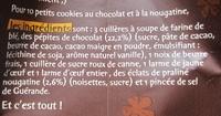 Petits cookies au chocolat et à la nougatine - Ingrédients