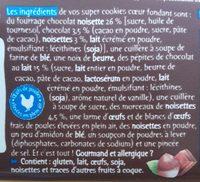 Super Cookies coeur fondant, au chocolat au lait et noisettes - Ingrediënten