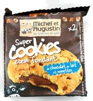 Super cookies coeur fondant au chocolat au lait et noisettes - Produit - fr