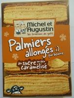 Palmiers allongés au sucre un peu caramélisé - Produit