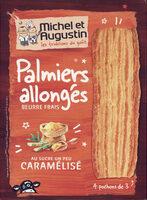 Palmiers allongés au sucre un peu caramélisé - Product