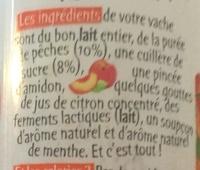 Vache à boire pêche larme de menthe - Ingrédients - fr