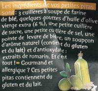 Pitas Huile D'olive Pointe De Sel - Ingredients