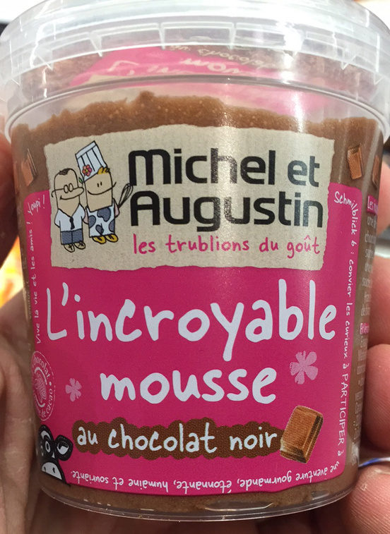 L'incroyable mousse au chocolat noir michel et Augustin 70 g
