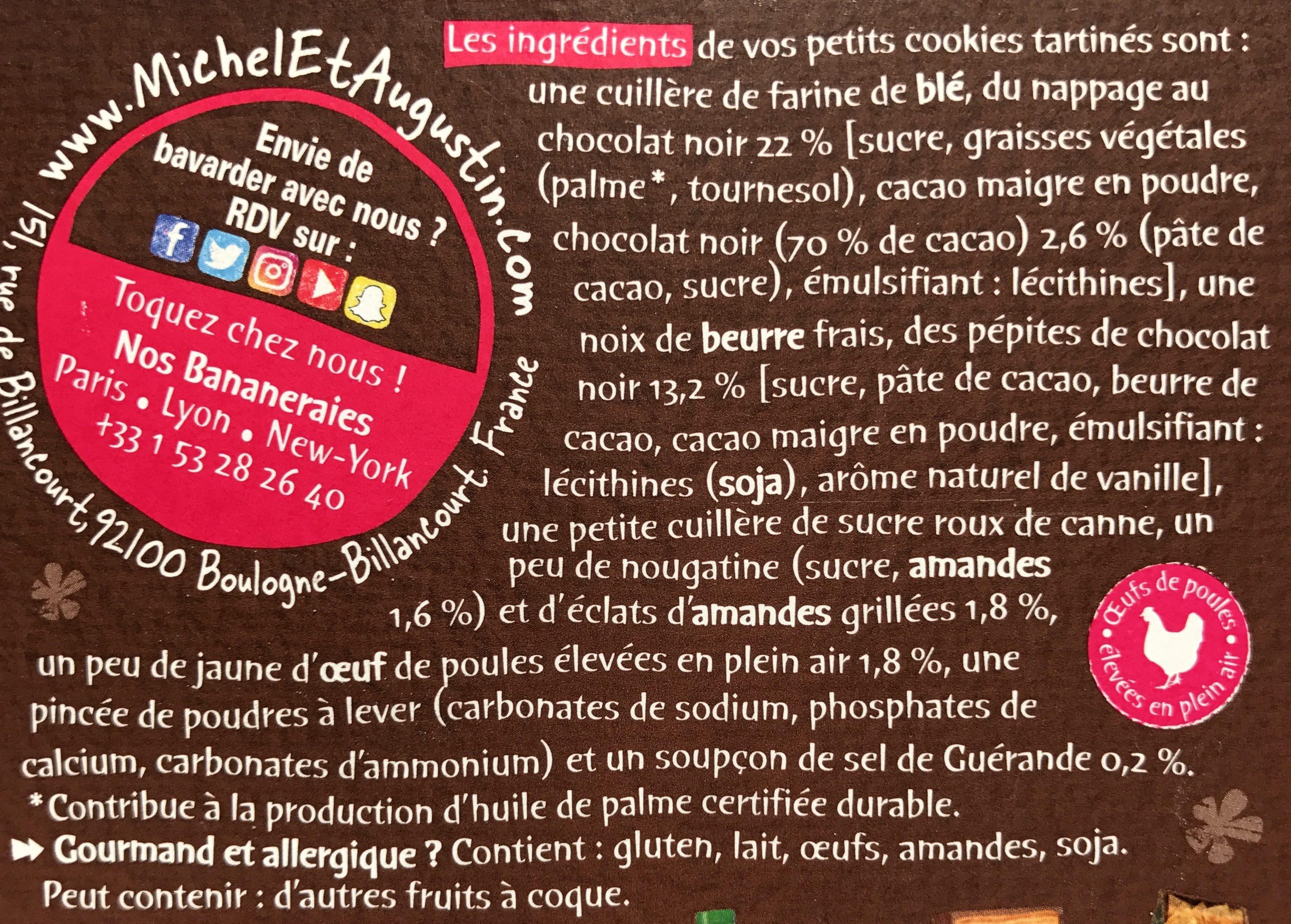 Petits cookies tartinés - Ingrédients - fr