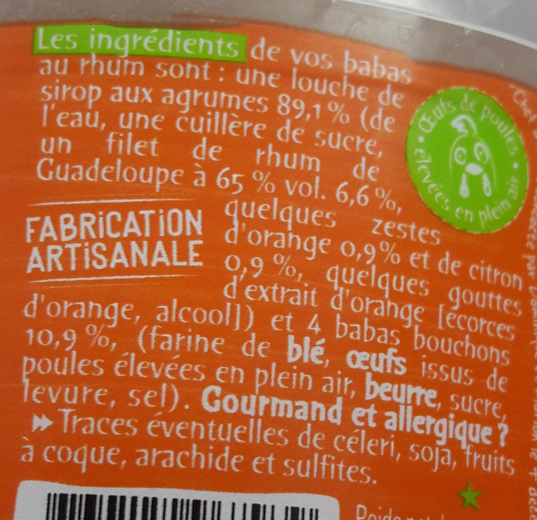 L'incroyable baba au rhum et aux agrumes 320g - Ingredients - fr