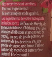 L'incroyable infusion d'hibiscus 33cl - Ingredients - fr