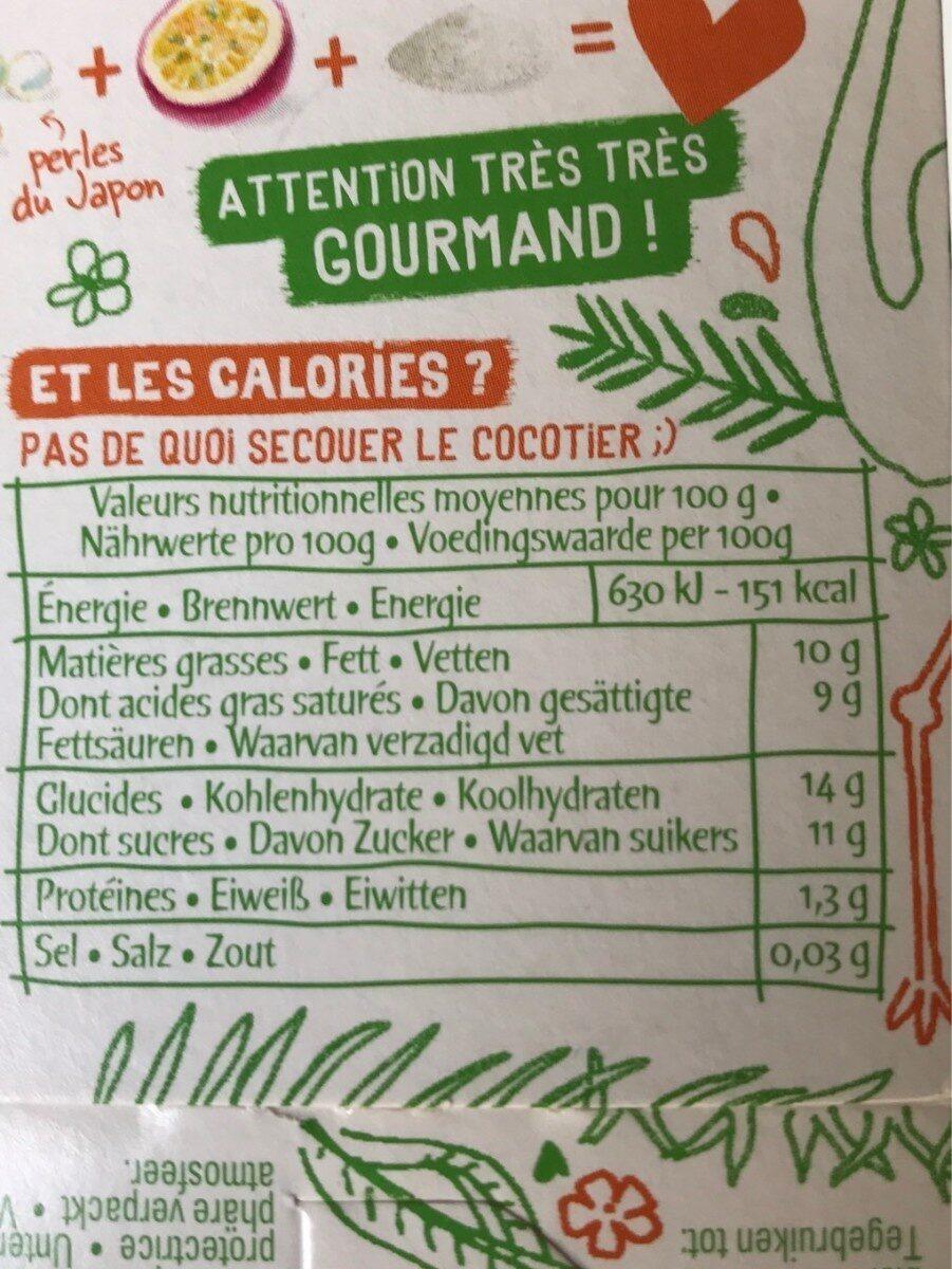 Perles du Japon coco mangue passion 2x90g - Nutrition facts - fr