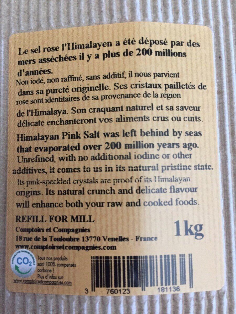 Recharge De Sel Rose L'himalaya - Voedingswaarden - fr