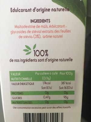 Stevia - Informations nutritionnelles - fr