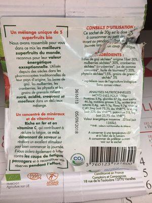 Mix Superfruits Biologiques - Ingrédients