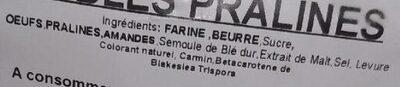 Sablés pralines - Ingrédients - fr