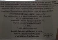 Glace artisanale caramel au beurre sale - Ingrédients - fr