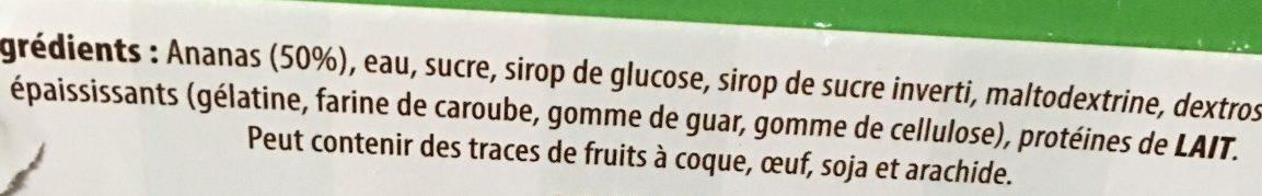 Sorbet Ananas - Ingredients - fr