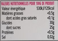 Sorbet Ananas - Nutrition facts - fr