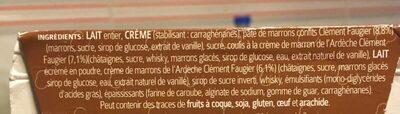 Glace Aux Marrons Glaces - Ingredients - fr