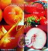 Saveurs d'été,  sorbets individuels, Abricot, fraise, pêche de vigne, melon - Product