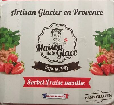 Sorbet fraise menthe MG Artisan Glacier en provence - Product - fr