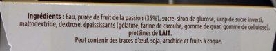 Sorbet Fruit de la Passion - Ingredienti - fr