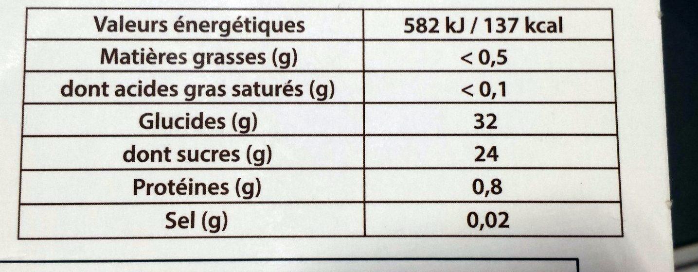 Sorbet Fruit de la Passion - Valori nutrizionali - fr