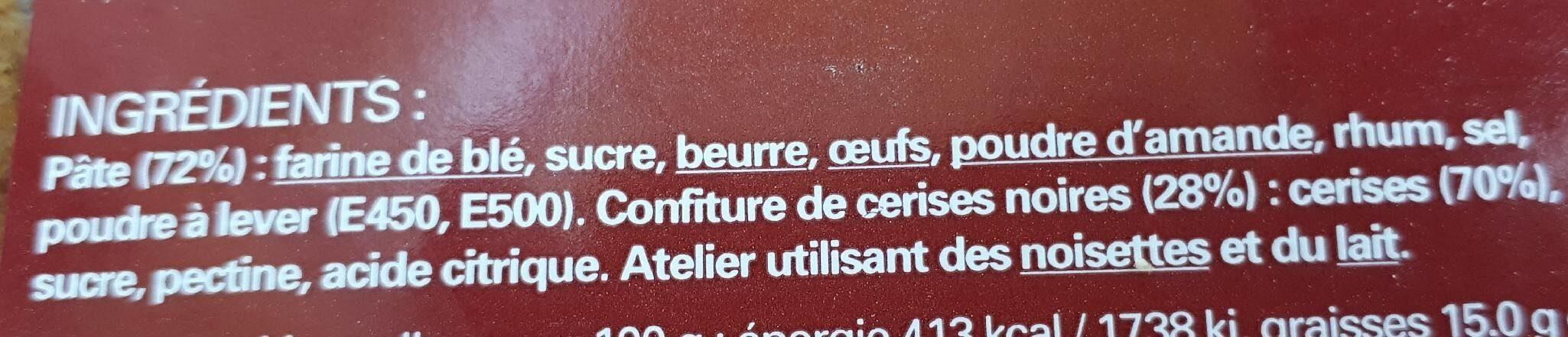 Gâteau basque aux cerises noires - Ingredients - fr