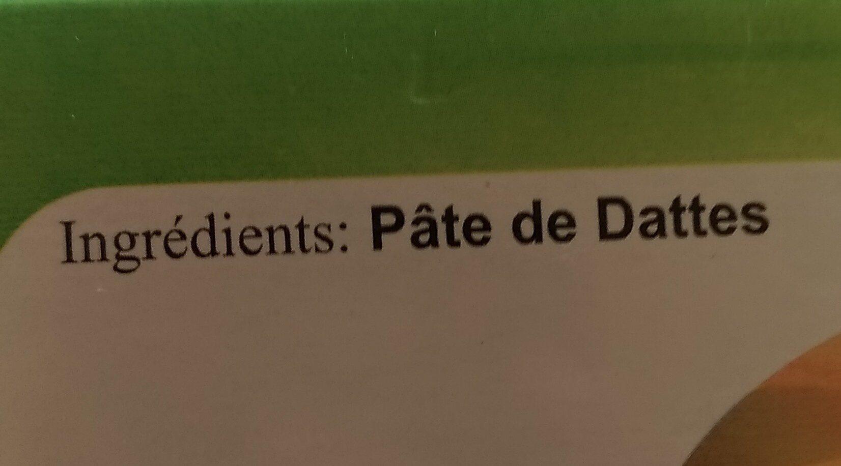 Pâte de dattes d'Algérie - المكونات - fr