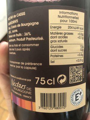 Nectar De Bourgogne - Ingredients