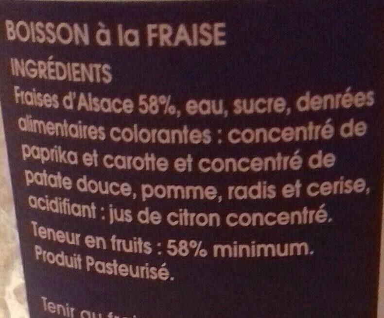 Boisson à la fraise - Ingrédients - fr