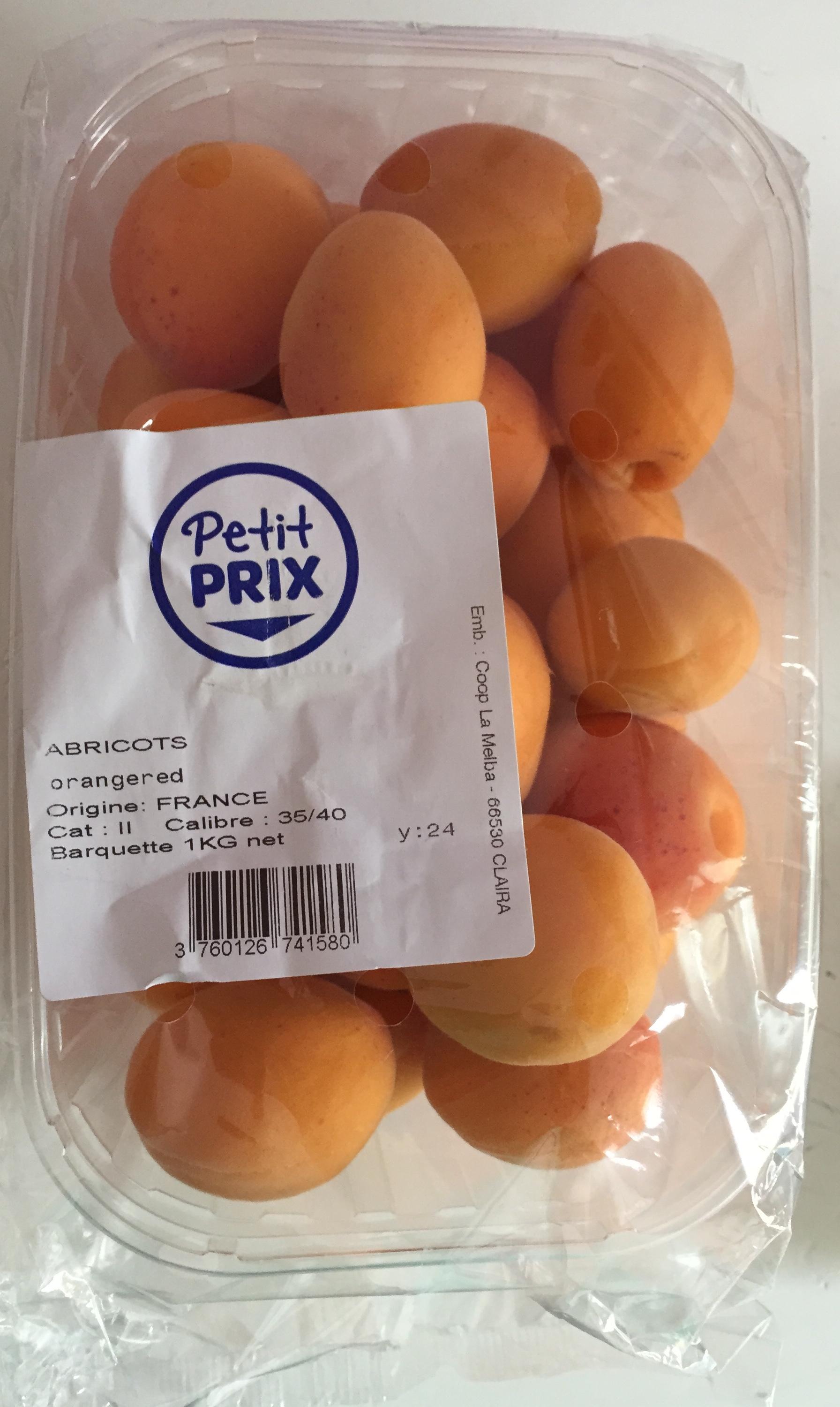 Abricots orangered (Calibre 35/40) - Produit - fr