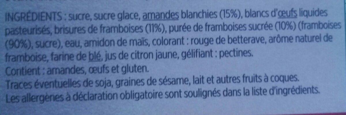 Macarons framboise - Ingredients