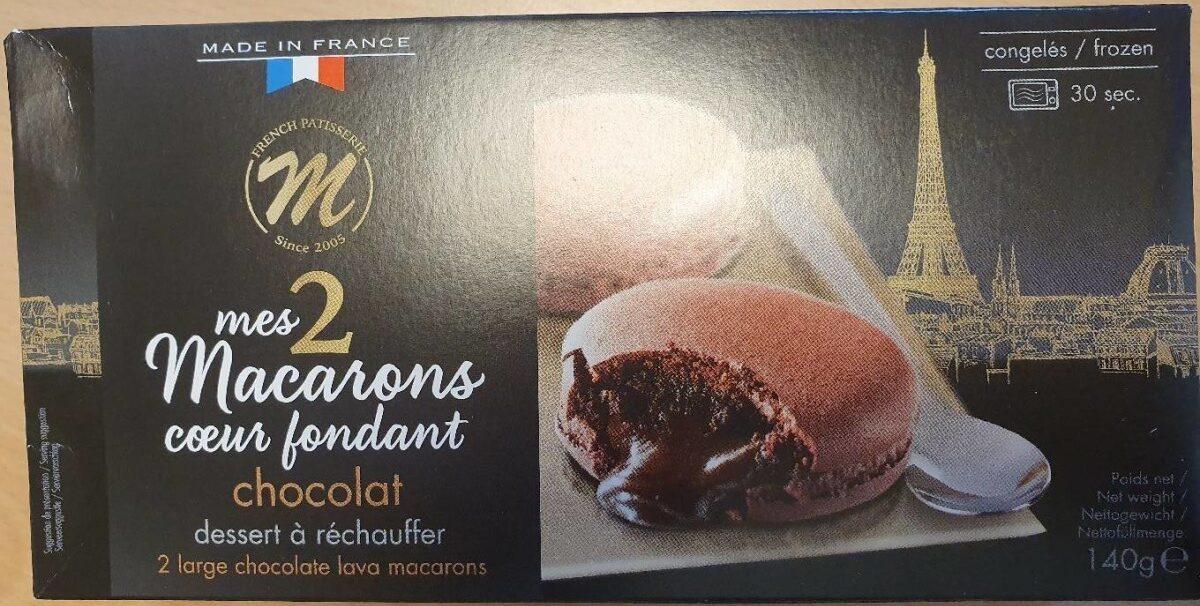 Mes deux macarons coeur fondant chocolat - Product - en