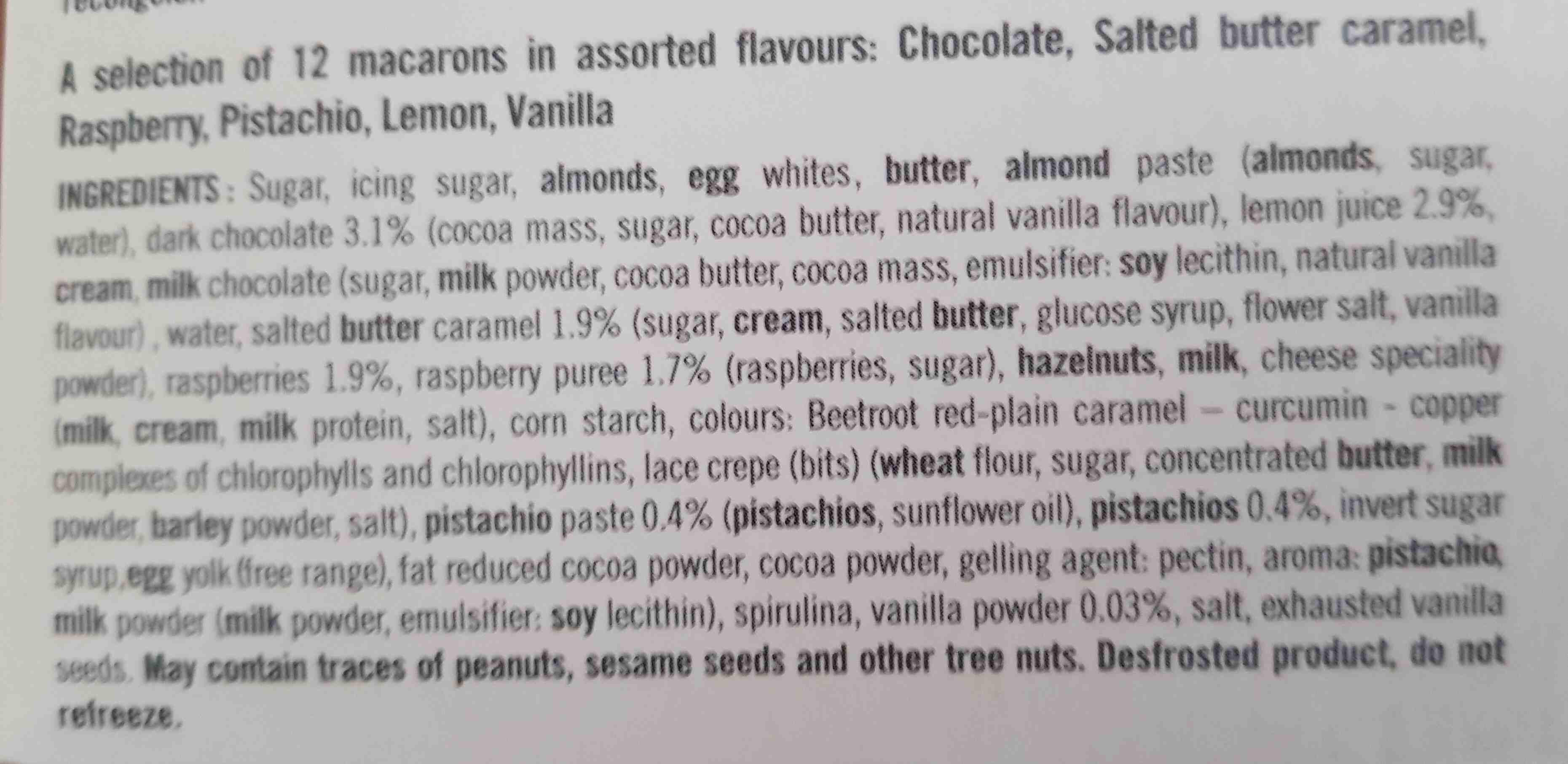 Macarons - Ingredients