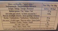 Mes deux macarons coeur fondant chocolat - Nutrition facts - en