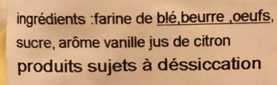 Gateau cuit à la broche - Ingrediënten - fr