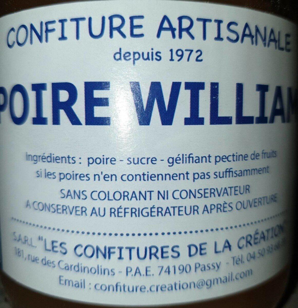 Confiture artisanale poire william - Produit - fr