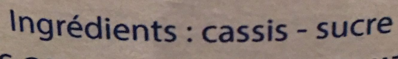 Confiture de cassis - Ingredients - fr