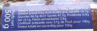 Confiture Artisanale Mûre Sauvage au Sucre de Canne Roux - Informations nutritionnelles - fr