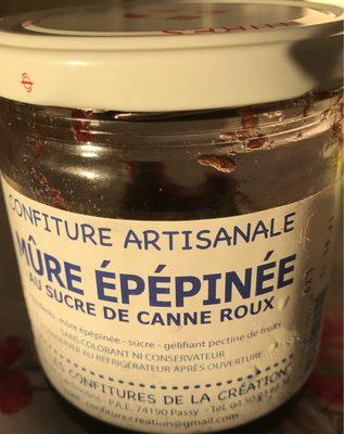 Confiture artisanale Mûre épépinée au sucre de canne roux - Product