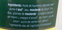 """Mayonnaise à la moutarde de Dijon """"Originale"""" - Ingredients - fr"""