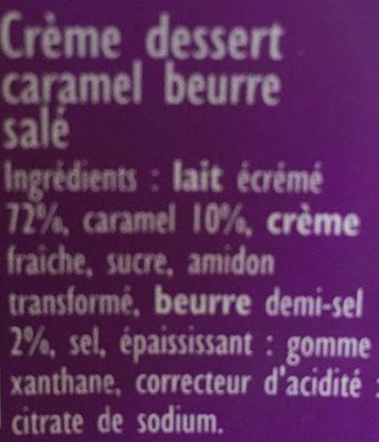 Crème Dessert Caramel Au Beurre Salé - Ingrédients