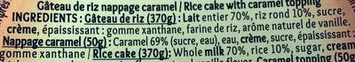 Mon gâteau de riz nappé de caramel - Ingredients