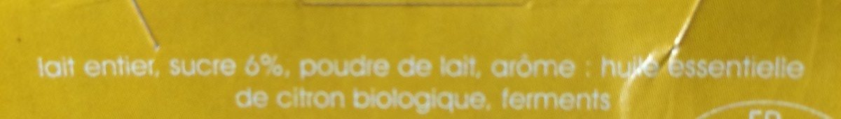 Yaourt citron huiles essentielles - Ingredients