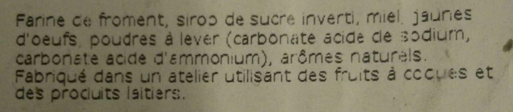 Véritable Pain d'épices de Dijon - Ingrédients - fr