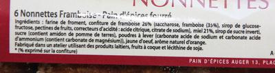 Nonnettes framboises - Ingrédients - fr